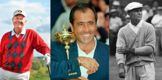 Jack Nicklaus, Severiano Ballesteros y Ben Hogan. Los 3 mejores jugadores de la historia del golf.