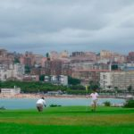 Vista de la playa del Sardinero desde el Club de golf Mataleñas