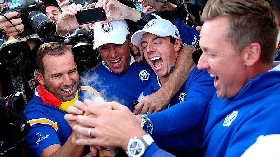 Celebración de los ganadores de la Ryder Cup