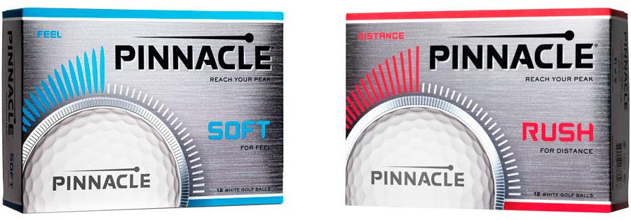 Pelotas de golf Pinnacle Soft y Pinnacle Rush