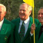 Los tres grandes del golf. Arnold Palmer, Jack Nicklaus y Gary Player