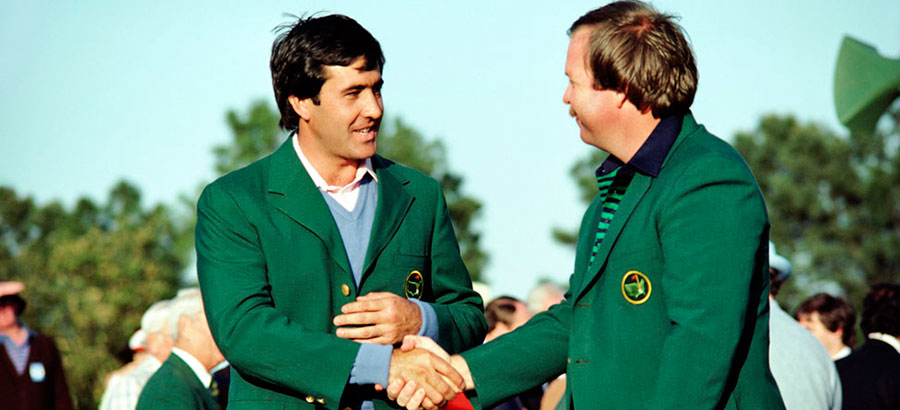 Severiano Ballesteros con la chaqueta verde