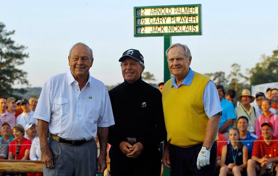 Arnold Palmer, Gary Player y Jack Nicklaus en el Abierto de Australia