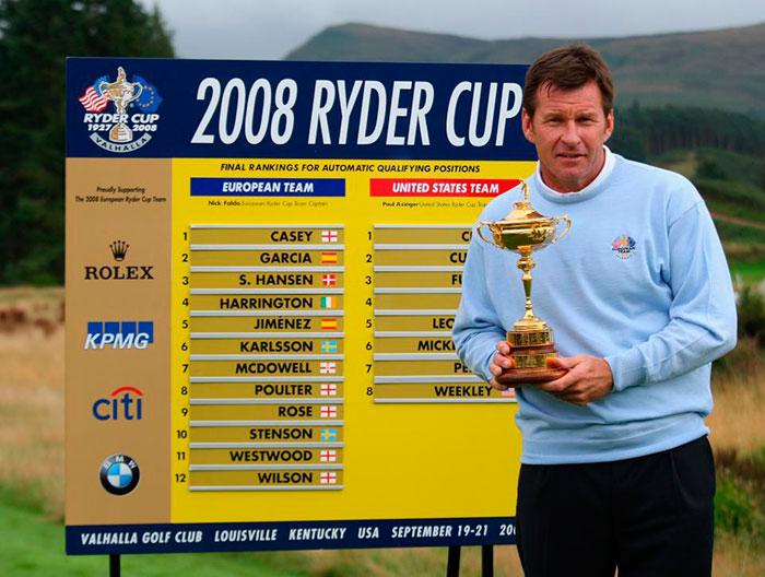 Nick Faldo en la Ryder Cup