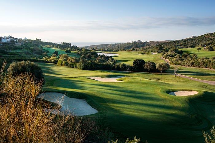 Espectacular vista de la Finca Cortesín Golf Club en Málaga