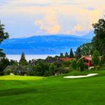 Impresionante vista del Evian Resort Golf Club