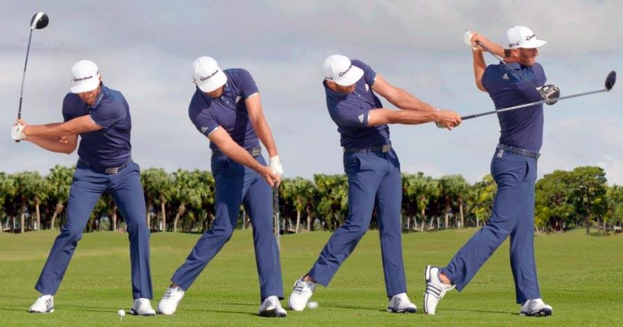 Jugador de golf realizando un swing → MundoGolf.golf