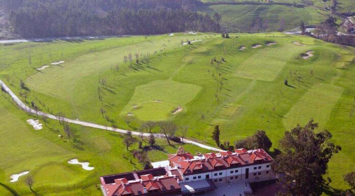 Vista cenital de La Llorea Golf - campo municipal en Gijón → MundoGolf.golf
